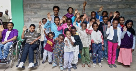 These patients await travel to Ghana for spine surgery.